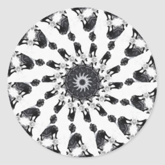 Anger Kaleidoscope 8 Round Sticker