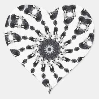 Anger Kaleidoscope 8 Heart Sticker