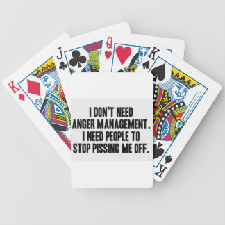Anger Management Bicycle Playing Cards