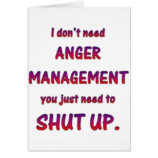 Anger Management Card