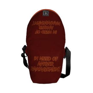 Anger Management custom color messenger bag