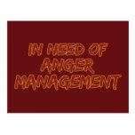 Anger Management custom postcard