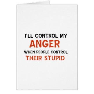 Anger management designs cards
