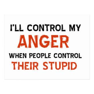Anger management designs post cards