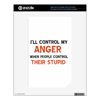 Anger management designs NOOK color skin