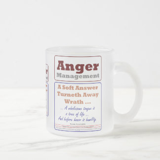 Anger Management Frosted Glass Coffee Mug