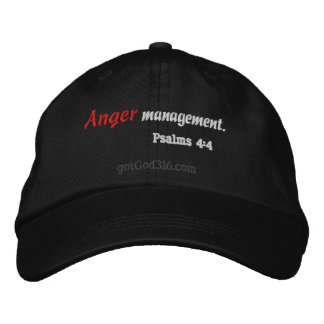 Anger Management gotGod316.com Wool Embroidered Baseball Caps
