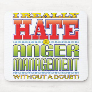Anger Management Hate Face Mouse Pad