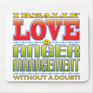Anger Management Love Face Mouse Pad