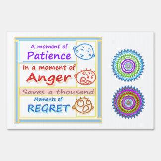 Anger Management : Motivational Moments Yard Sign