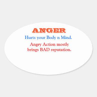 ANGER Management Oval Sticker