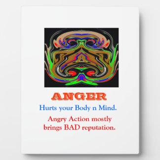 ANGER Management Plaque
