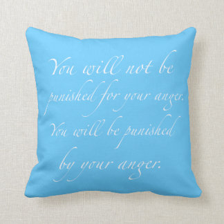 Anger Management Quote Pillow