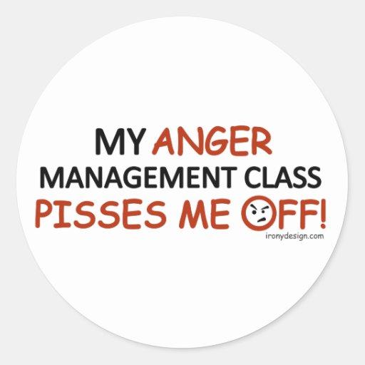 Anger Management Round Sticker