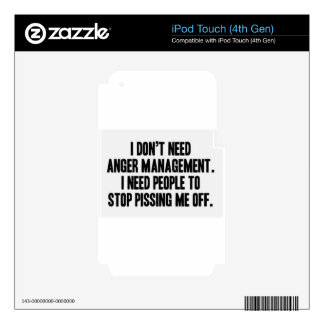 Anger Management iPod Touch 4G Decal