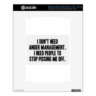 Anger Management Skin For NOOK