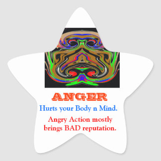 ANGER Management Star Sticker
