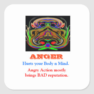ANGER Management Square Stickers