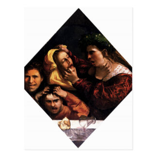 Anger or the Tussle by Dosso Dossi Postcard