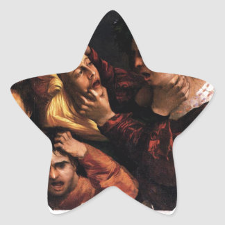 Anger or the Tussle by Dosso Dossi Star Sticker