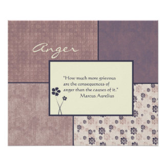 Anger Quote Poster Customizable