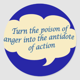 Anger To Action Classic Round Sticker