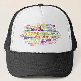 Anger Wordle Trucker Hat