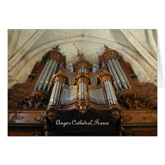 Angers Cathedral organ, France Card