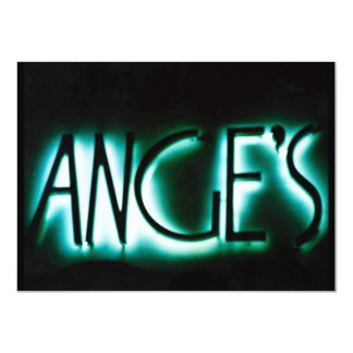 ANGE'S ANGELS Blank Invitations Announcements Neon