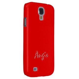 Angie Intense Red Samsung Galaxy S4 case