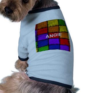 ANGIE (nombres femeninos) Camiseta Con Mangas Para Perro