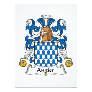 Angier Family Crest 6.5x8.75 Paper Invitation Card