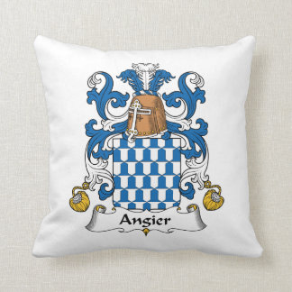 Angier Family Crest Pillow