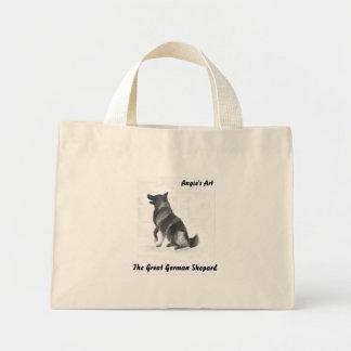 Angie's Art  German Shepard Mini Tote Bag