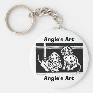 """Angie's Art """"seeing spots"""" Keychain"""
