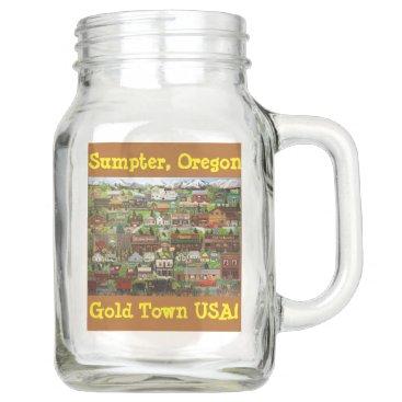 USA Themed Angie's Gold Post Kerr Jar