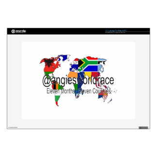 "@angiesworldrace 15"" Laptop Cover - White Decal For Laptop"