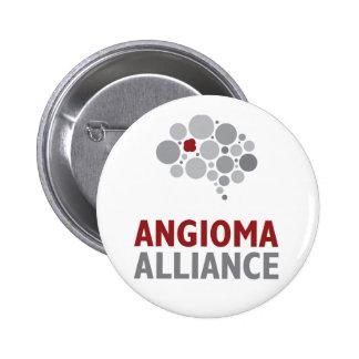 Angioma Alliance Logo Gear Pinback Button