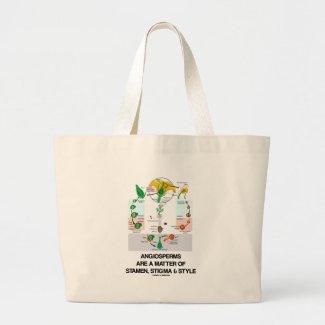 Angiosperms Are A Matter Of Stamen Stigma Style Canvas Bag