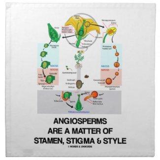 Angiosperms Are A Matter Of Stamen Stigma Style Cloth Napkin