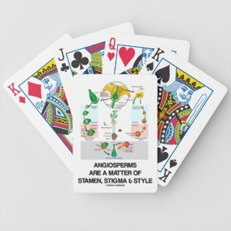 Angiosperms Are A Matter Of Stamen Stigma Style Bicycle Poker Deck