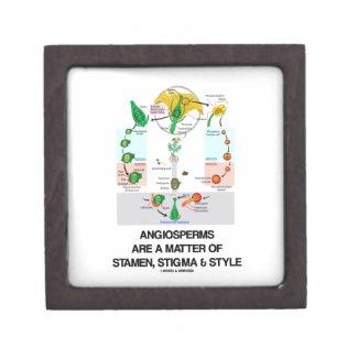 Angiosperms Are A Matter Of Stamen Stigma Style Premium Jewelry Box