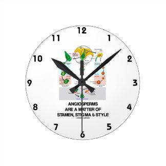 Angiosperms Are A Matter Of Stamen, Stigma & Style Round Clock