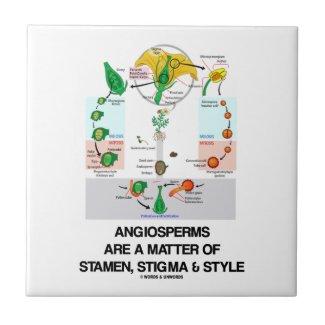 Angiosperms Are A Matter Of Stamen Stigma Style Ceramic Tiles