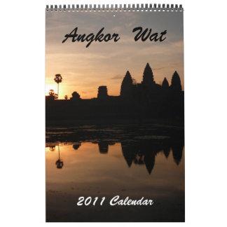 angkor 2011 15 month single page calendar