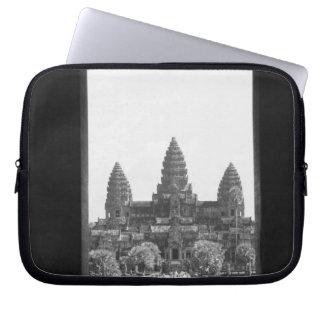 Angkor Cambodia, Angkor Wat Doorway View 2 Laptop Computer Sleeve
