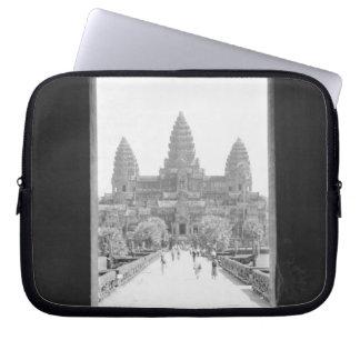 Angkor Cambodia, Angkor Wat Doorway View Laptop Computer Sleeves