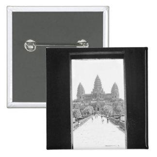 Angkor Cambodia, Angkor Wat Doorway View Pinback Button