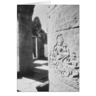 Angkor Cambodia, Apsara Carving The Bayon 2 Card