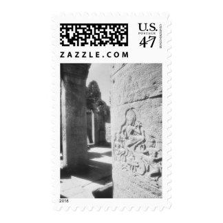Angkor Cambodia, Apsara Carving The Bayon 2 Stamp